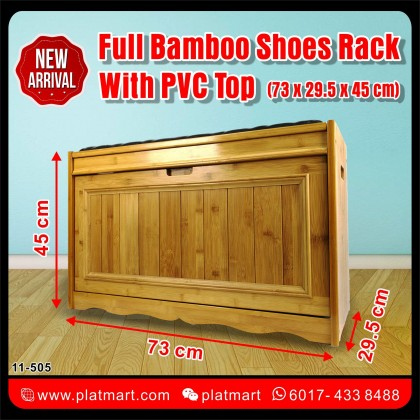 PlatMart - Full Bamboo Shoes Rack With PVC Top 11-505