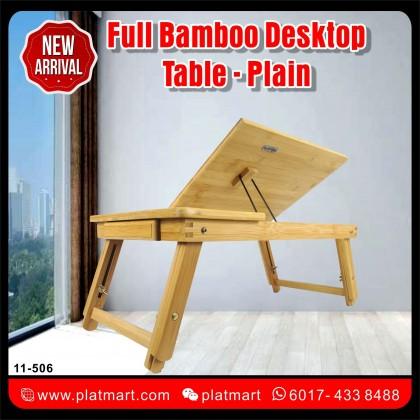 PlatMart - Full Bamboo Desktop Table Stand computer Laptop Desk 11-506