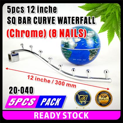 PlatMart - [READY STOCK] 5 pcs 12inch / 14 inch SQ BAR CURVE WATERFALL (Chrome)
