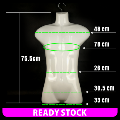 PlatMart - [READY STOCK] Adults Hanging Mannequin Male - Patung Baju 20-169