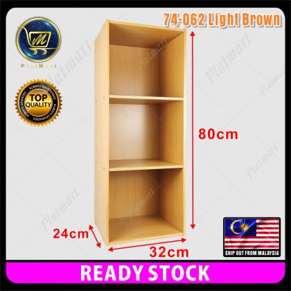PlatMart - [READY STOCK] Kabinet Buku 3 Petak /3 Tier Compartment Utility Shelf