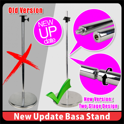 PlatMart - [READY STOCK] Black Lady Fashion Half Mannequin with Chome Steel Stand