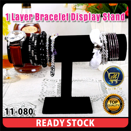 PlatMart - [READY STOCK] Black Bracelet Chain Watch T-Bar Rack Jewelry Hard Display Stand Holder