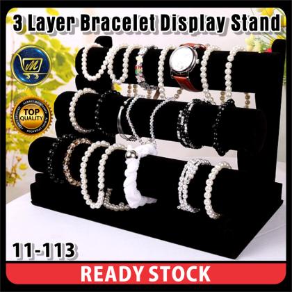PlatMart - [READY STOCK] Velvet Watch / Bracelet Jewellery Display Organizer Stand Holder