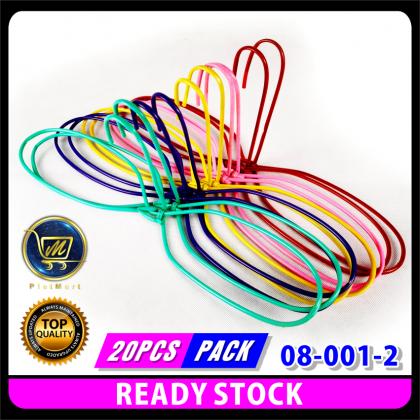 PlatMart - [READY STOCK] 20 pcs WIRE PLASTIC MIX COLOUR HANGER