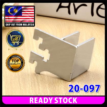 PlatMart - [READY STOCK] CHROME STEEL SQ BAR BRACKET (LEFT & RIGHT) 20-097