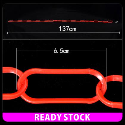 PlatMart - [READY STOCK] 4PCS COLOUR PLASTIC CHAIN WITH STEEL HOOK 137CM