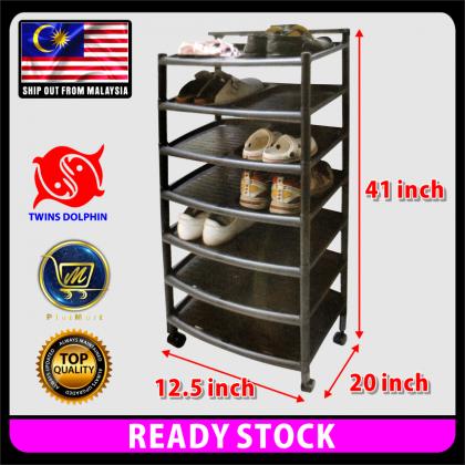 PlatMart - [READY STOCK] 7 Layers PLASTIC SHOE RACK 65-008