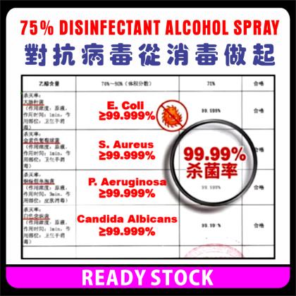 PlatMart - [READY STOCK] DISINFECTANT SPRAY,  75% ETHANOL ALCOHOL 450 ml,  (Not For EAST Malaysia)