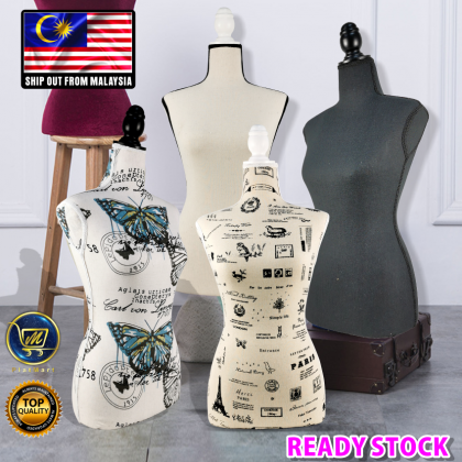 PlatMart - [READY STOCK] Lady Fashion Full Foam Mannequin With Solid Wood Stand (Pin Available)