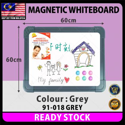 PlatMart - [READY STOCK] 60 x 60cm Plastic Colourful Frame Magnetic White Board 91-018