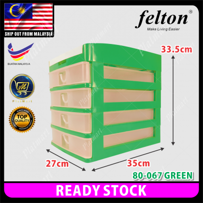PlatMart - [READY STOCK] FELTON A4 Document 3&4 Tier House And Office Drawer Storage Box, Office Stationery Storage Box 80-067,80-068