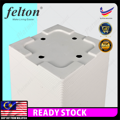 PlatMart - [READY STOCK] FELTON Square Flower Pot With Hole - White / Black 80-291
