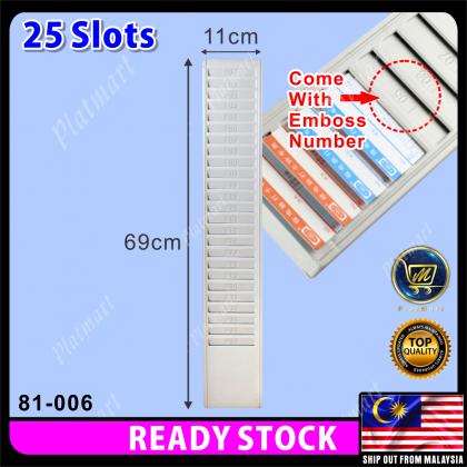PlatMart - [READY STOCK] 25 Slots / 50 Slots Punch Card Rack / Time Card Rack 81-006,81-031