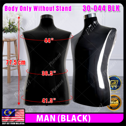 PlatMart - [READY STOCK] Lady / Man Fashion Half Body Mannequin Without Chome Steel Stand 30-043,30-044
